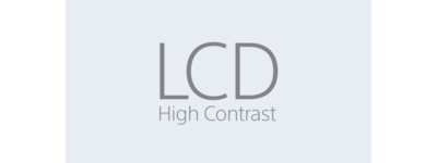 High-contrast LCD icon
