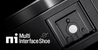 Multi-interface shoe close-up image