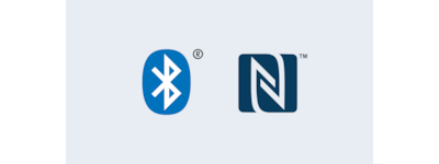 Bluetooth and NFC logos