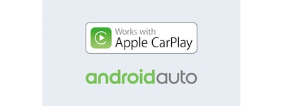 Logótipos Apple CarPlay e Android Auto