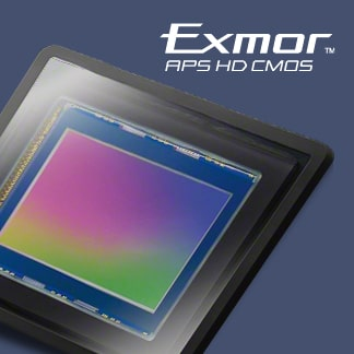 حساس Exmor® APS HD CMOS بدقة 20,1 ميجا بكسل