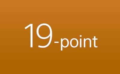 Mise au point automatique 19 points hautes performances