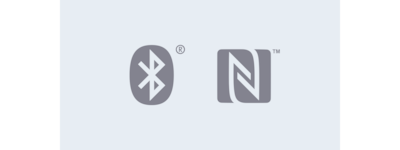 Bluetooth and NFC technology icon