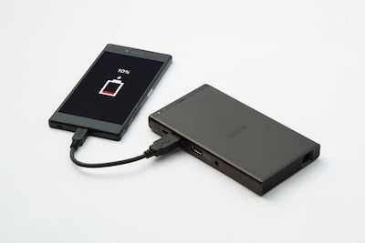 Powerful 5,000mAh battery/charger